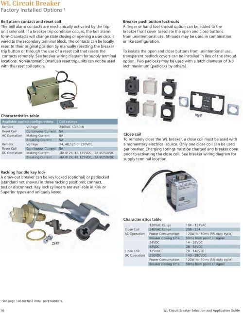 small resolution of the contacts can be locally reset to their original position by manually resetting the breaker trip