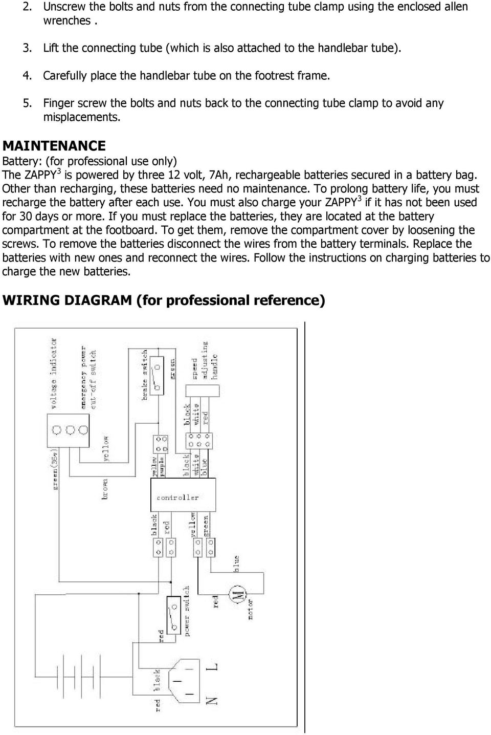 medium resolution of zappy 3 owner s manual read this manual completely before riding wiring diagram zappy 3 fo
