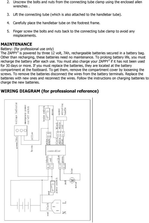 small resolution of zappy 3 owner s manual read this manual completely before riding wiring diagram zappy 3 fo