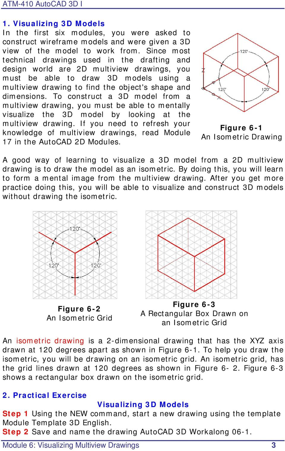 hight resolution of AutoCAD 3D I. Module 6. Visualizing Multiview Drawings. Curriculum  Development Unit PREPARED BY. August PDF Free Download