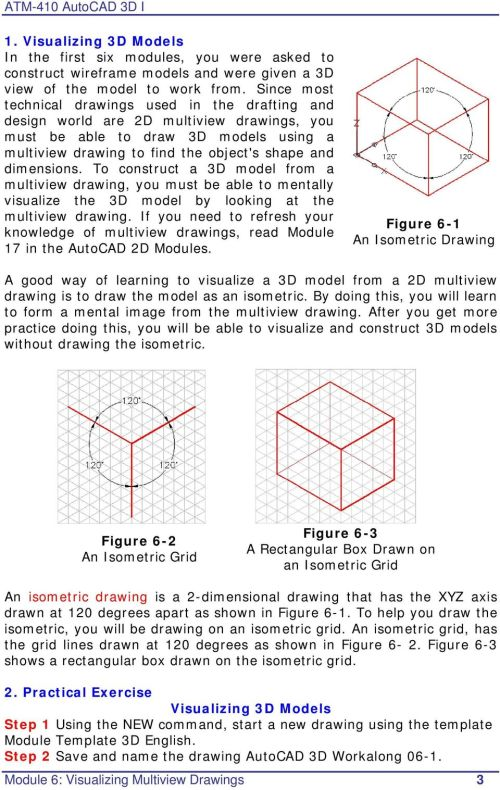 small resolution of AutoCAD 3D I. Module 6. Visualizing Multiview Drawings. Curriculum  Development Unit PREPARED BY. August PDF Free Download