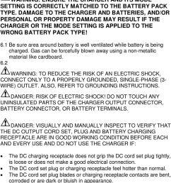 never assume differing battery types are equal in performance or charge requirements warning ensure [ 960 x 1476 Pixel ]