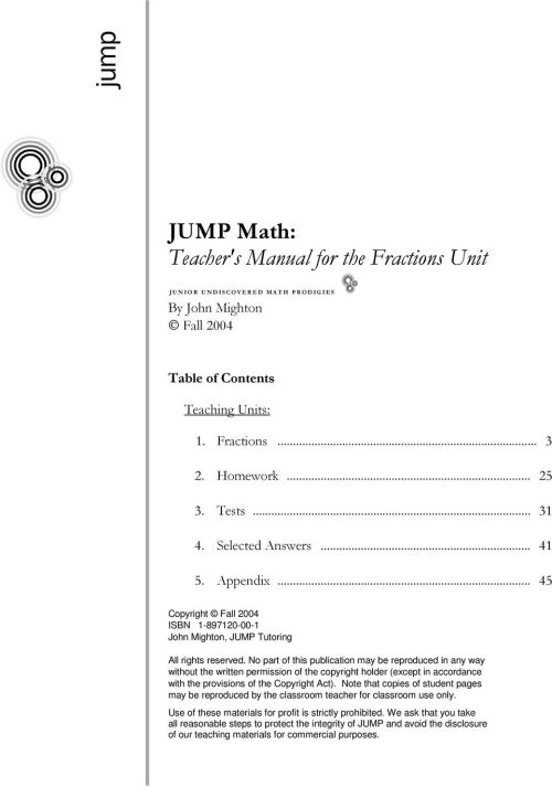 small resolution of JUMP Math: Teacher's Manual for the Fractions Unit - PDF Free Download