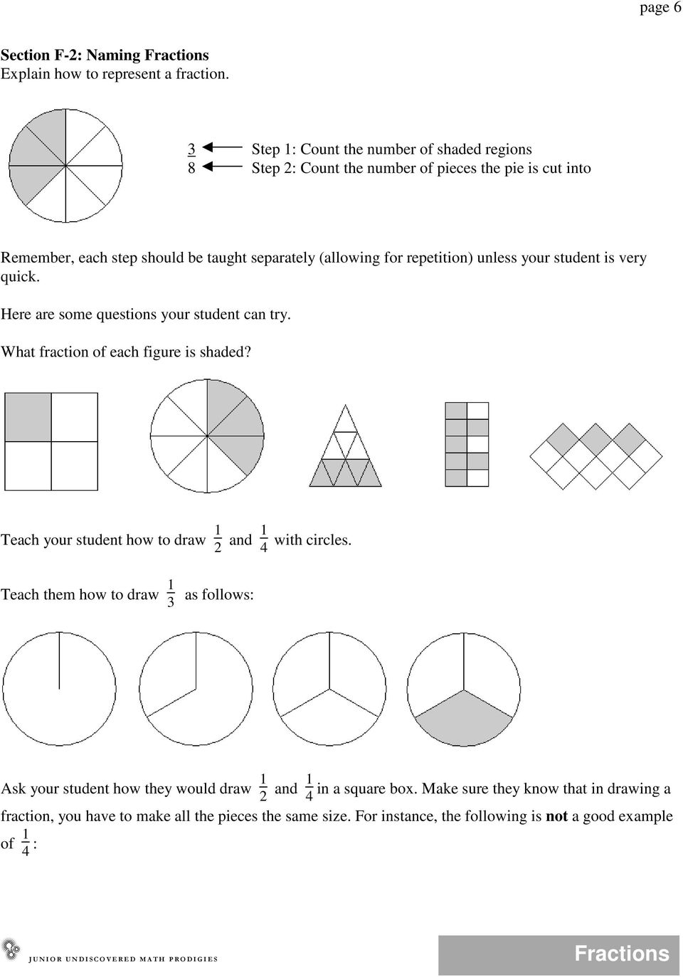 medium resolution of JUMP Math: Teacher's Manual for the Fractions Unit - PDF Free Download