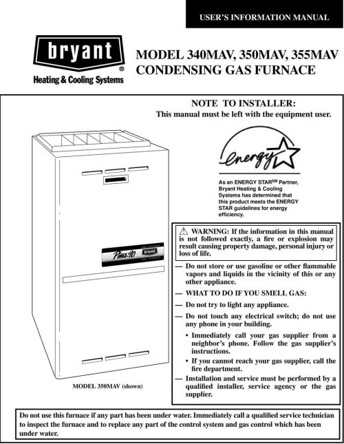 small resolution of model 0mav shown high efficiency gas furnace a978 warning if the information in