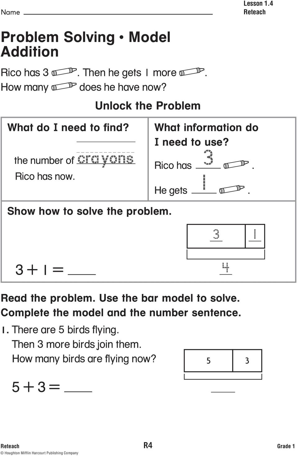 hight resolution of Reteach Book. Grade 1 PROVIDES. Tier 1 Intervention for Every Lesson - PDF  Free Download