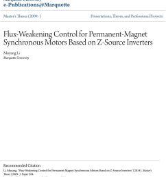 marquette university recommended citation li muyang flux weakening control for permanent  [ 960 x 1059 Pixel ]