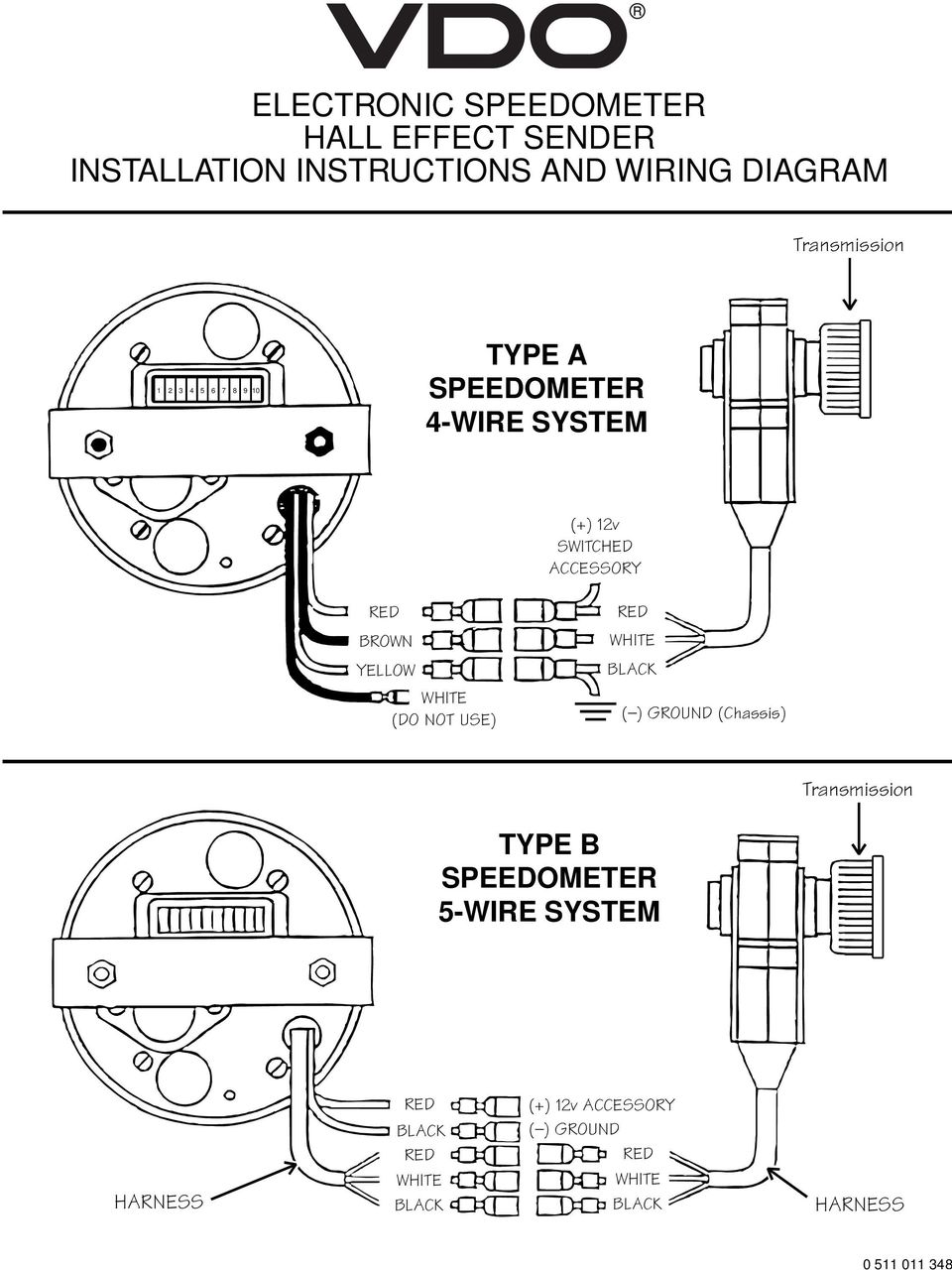 hight resolution of vdo electronic speedometer hall effect sender installation rh docplayer net vdo electronic speedometer wiring diagram vdo