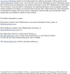 Released 2013 Achievement Test. Mathematics GRADE - PDF Free Download [ 1337 x 960 Pixel ]