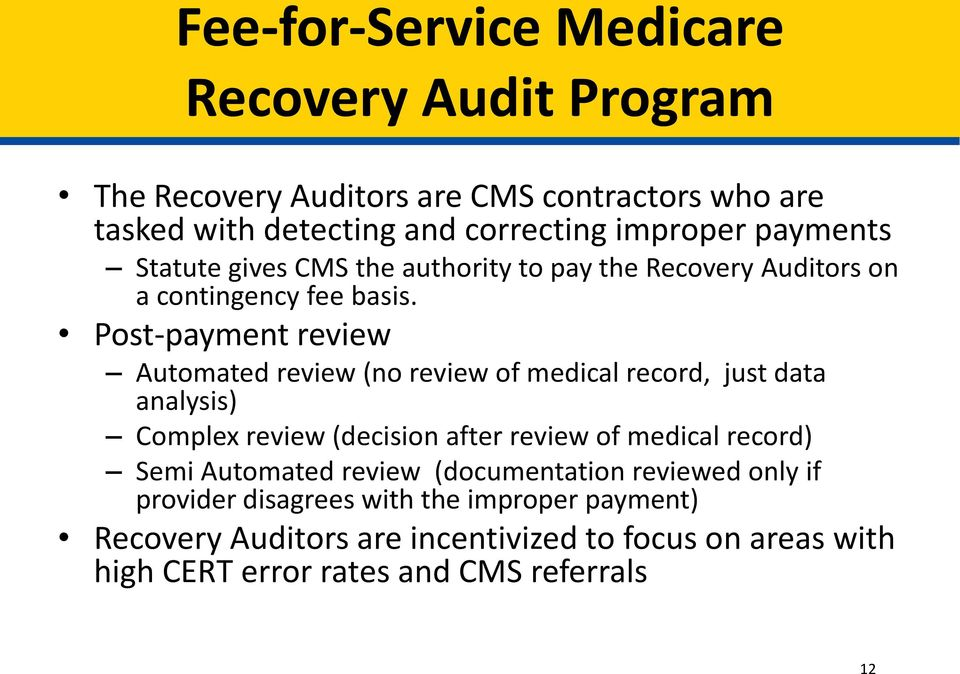 Provider Audit Charlotte Benson CMS Office of Financial Management Financial Services Group