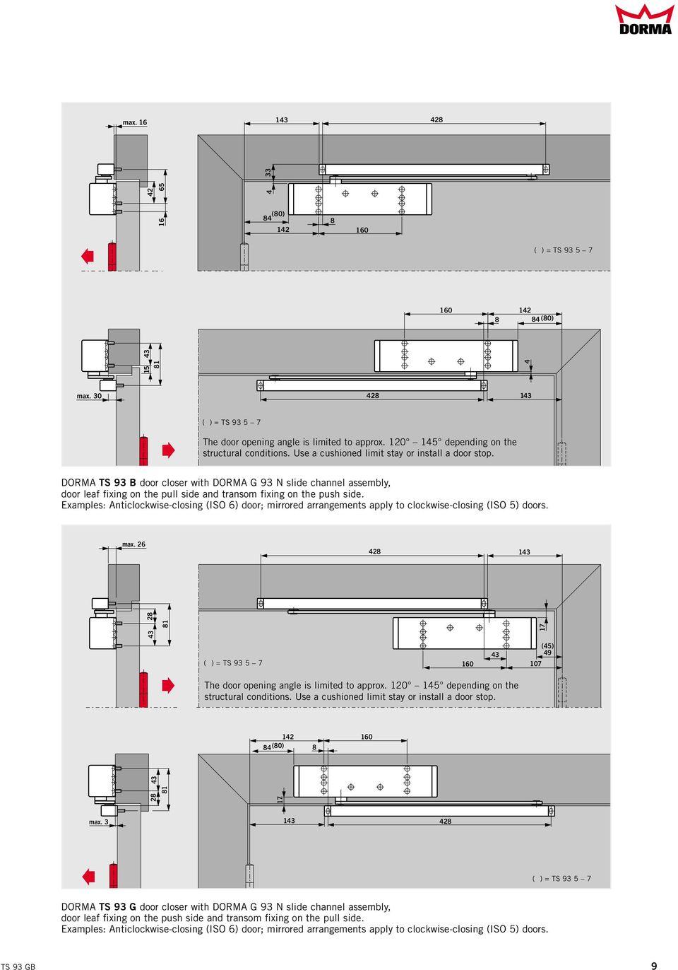 hight resolution of dorma ts 93 b door closer with dorma g 93 n slide channel assembly door