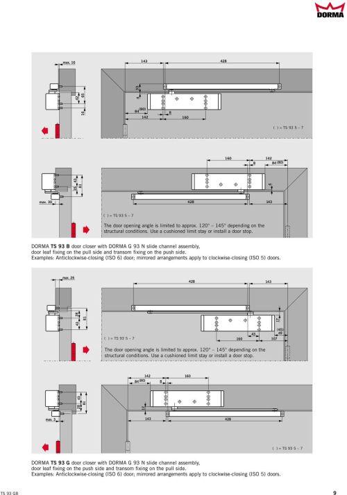 small resolution of dorma ts 93 b door closer with dorma g 93 n slide channel assembly door