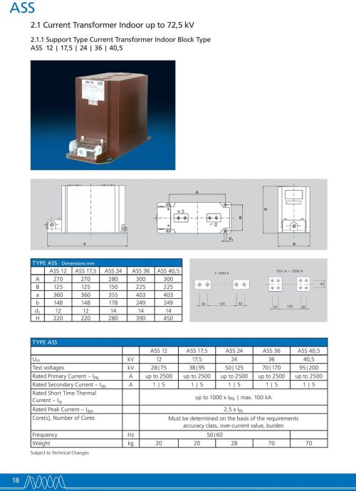 small resolution of 1 support type current transformer indoor block type ass 12 17 5 24 36 40