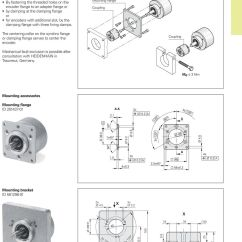 Heidenhain Encoder Rod 431 Wiring Diagram Guitar 5 Way Switch Rotary Encoders November Pdf Roc Roq 400 With Clamping Flange Mounting Coupling The Centering Collar On 20