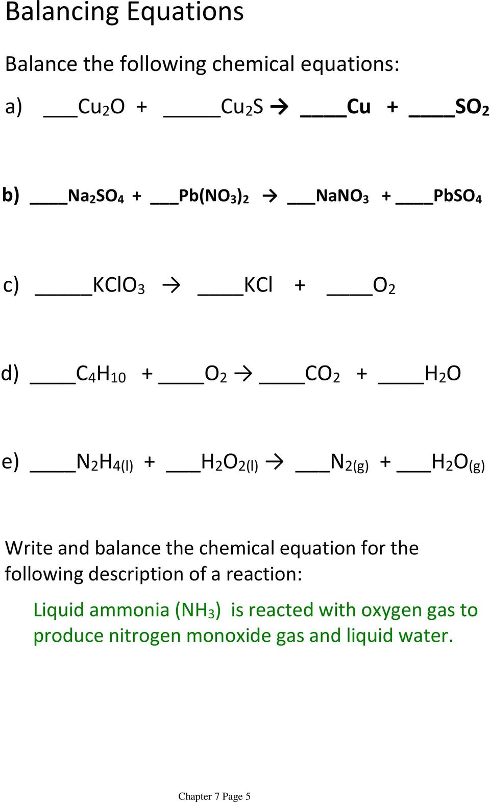medium resolution of Chapter 7: Chemical Reactions - PDF Free Download