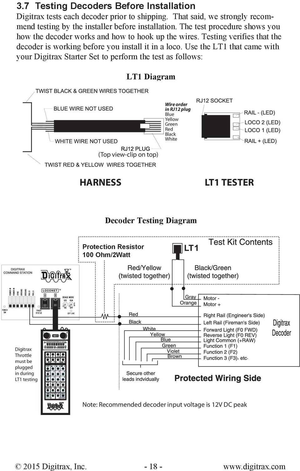 hight resolution of use the lt1 that came with your digitrax starter set to perform the test as follows