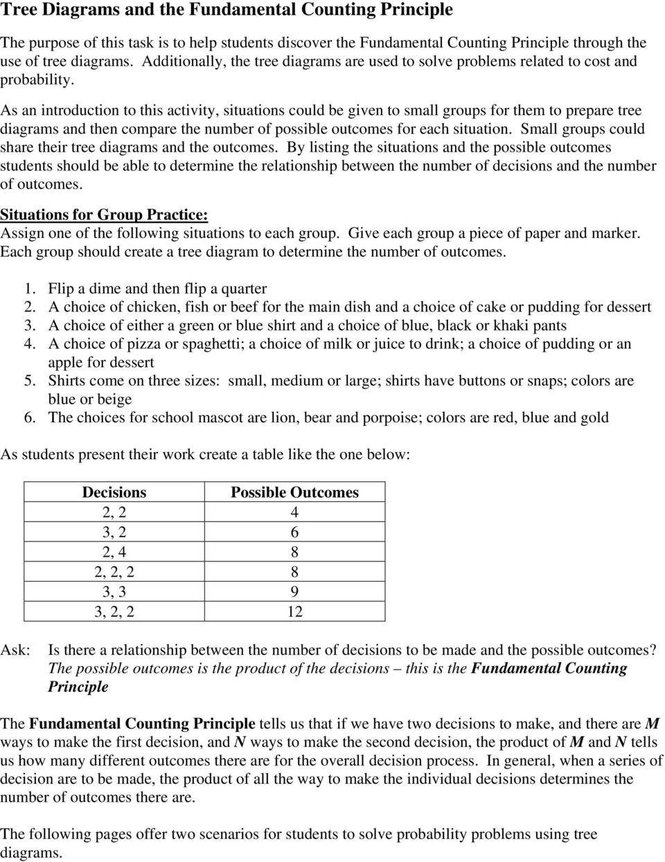 medium resolution of Tree Diagrams and the Fundamental Counting Principle - PDF Free Download