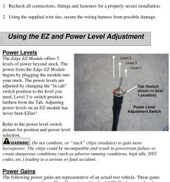 using the ez and power level adjustment power levels the edge ez module offers 3 levels [ 960 x 1375 Pixel ]