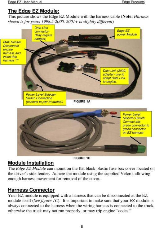 small resolution of dodge cummins 5 9l 24 valve edge products ez module installation 1995 ez go wiring diagram edge ez wiring diagram