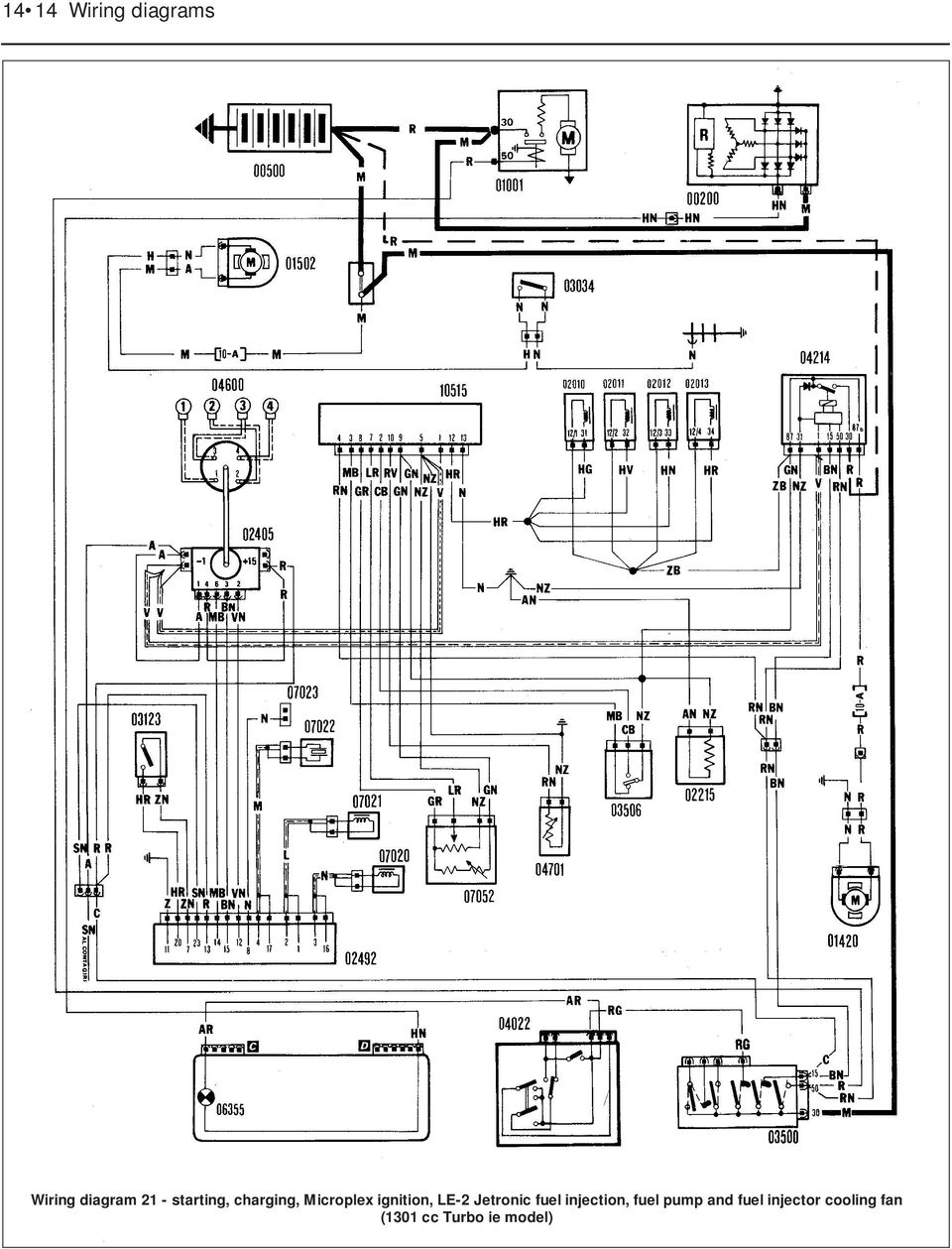 medium resolution of le 2 jetronic fuel injection fuel pump and 15 wiring diagram