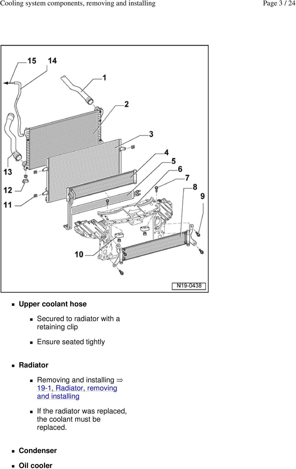 medium resolution of installing 19 1 radiator removing and installing if the