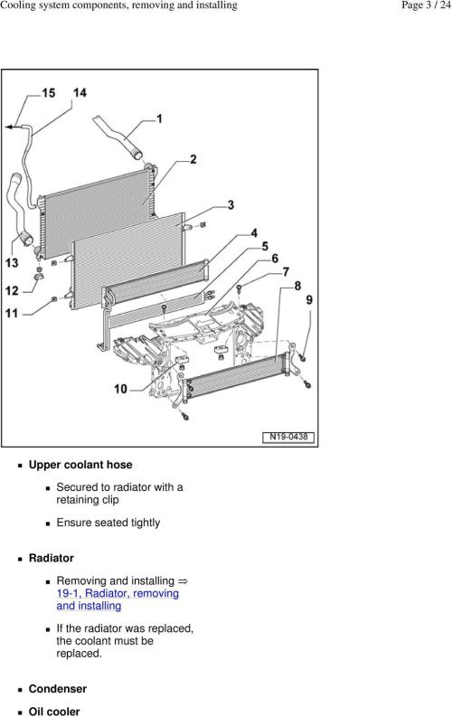 small resolution of installing 19 1 radiator removing and installing if the