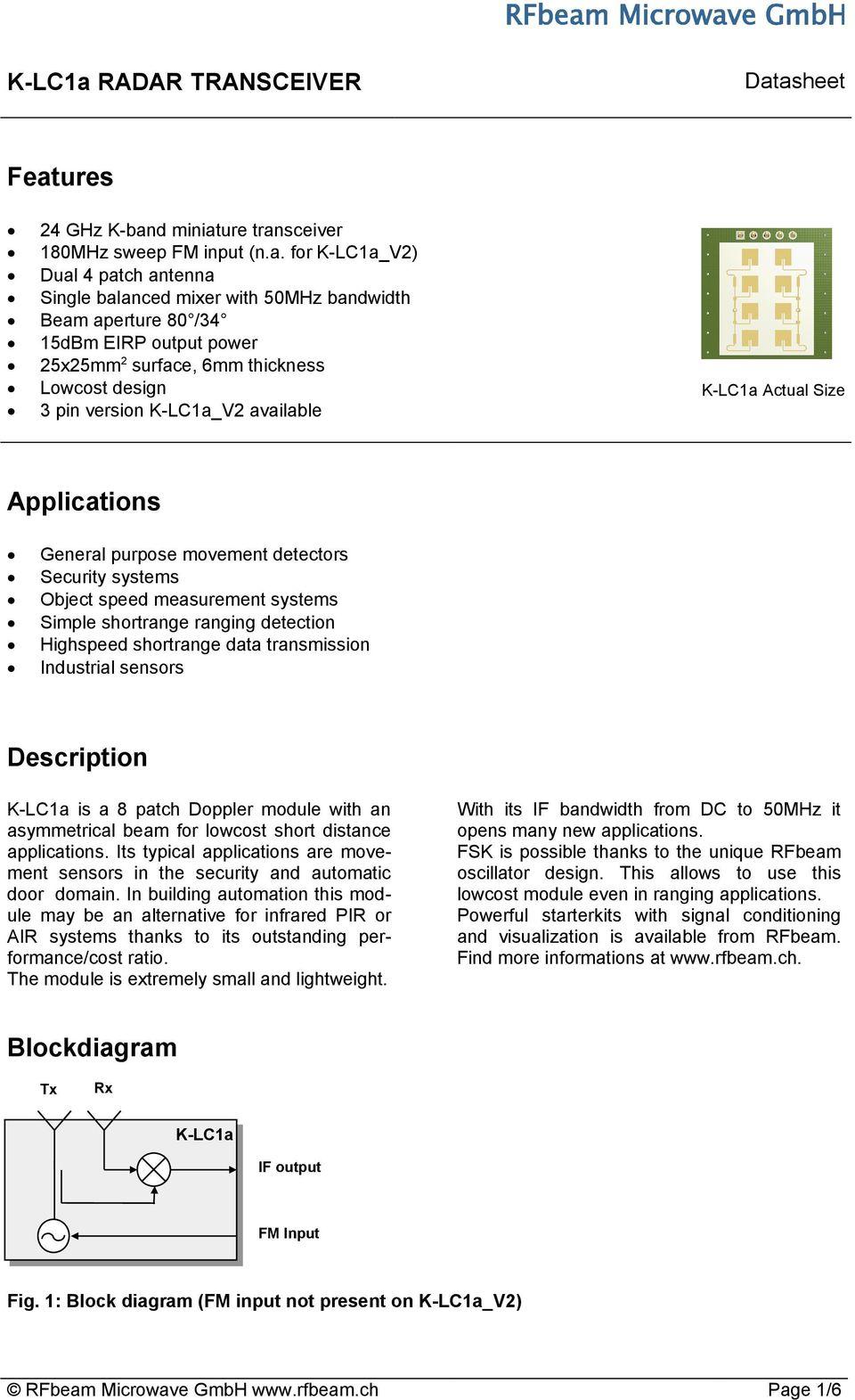 medium resolution of simple shortrange ranging detection highspeed shortrange data transmission industrial sensors description k lc1a is a