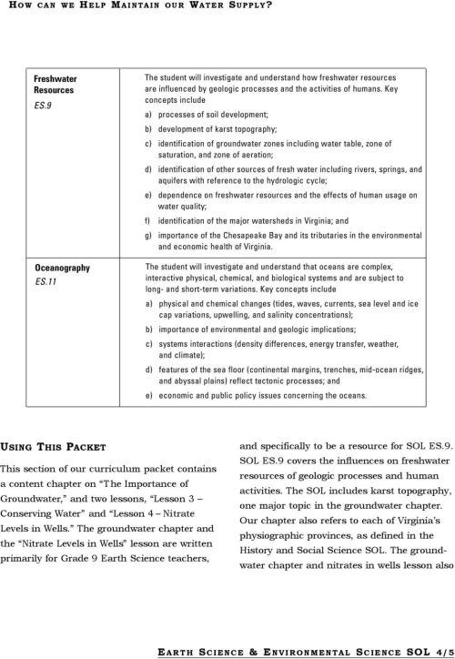 small resolution of Earth Science \u0026 Environmental Science SOL - PDF Free Download