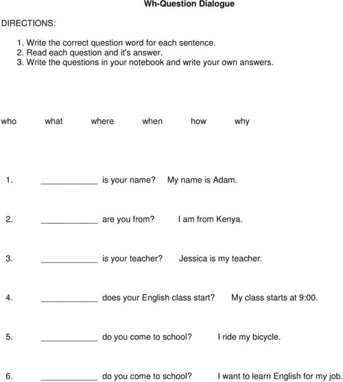 small resolution of MASTER Wh Questions: Week 1 of 1. Unit Overview: - PDF Free Download