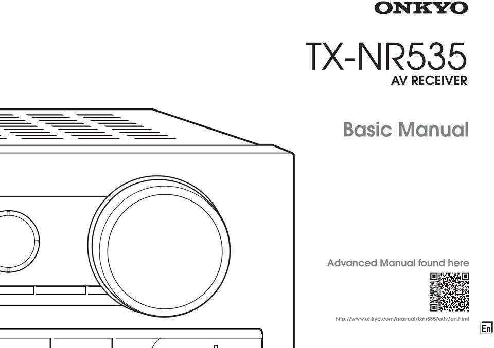 TX-NR535. Basic Manual AV RECEIVER. Advanced Manual found