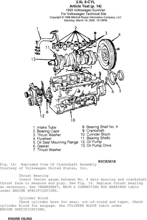 small resolution of see crankshaft main connecting rod bearings table under engine specifications