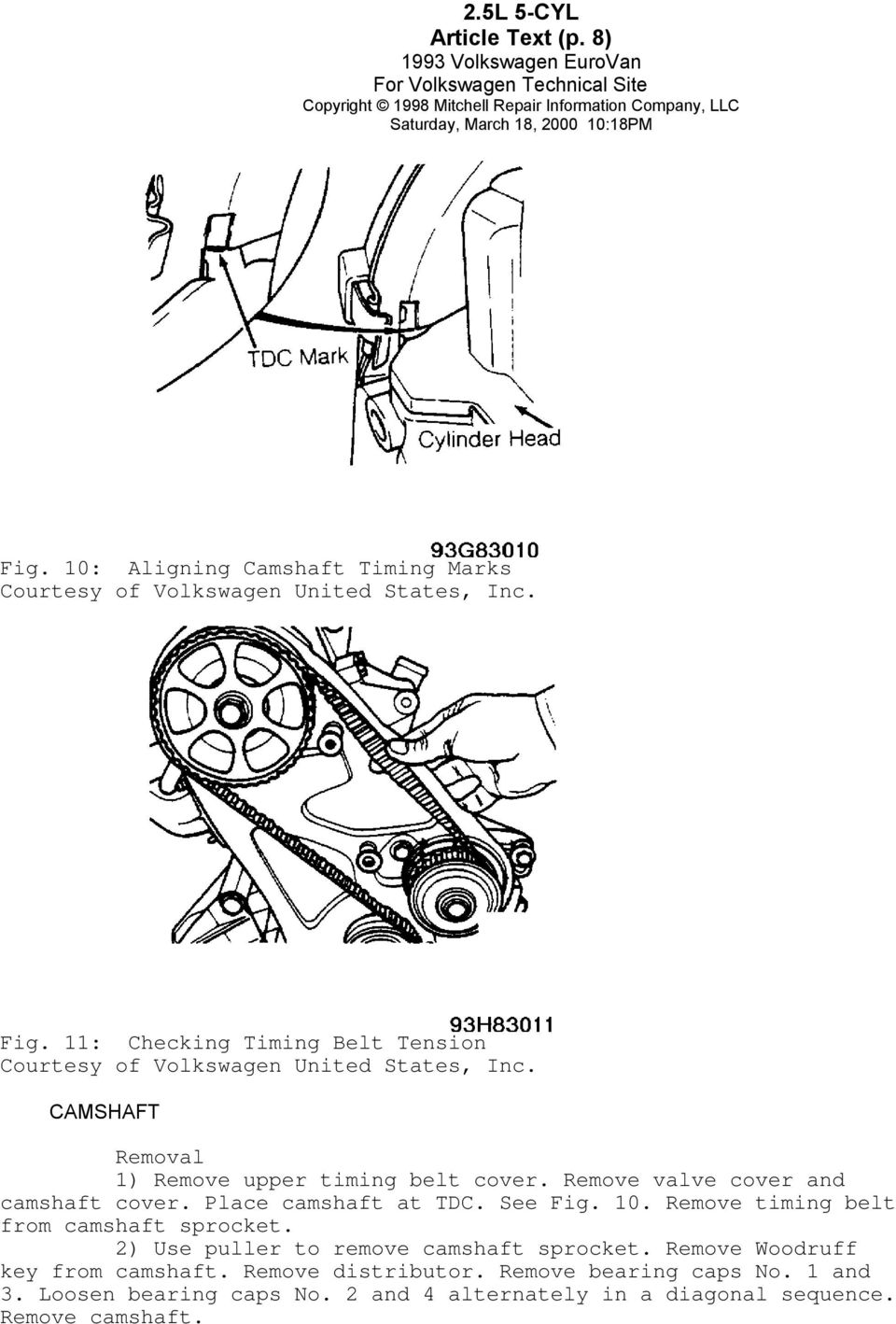 hight resolution of remove valve cover and camshaft cover place camshaft at tdc see fig 10