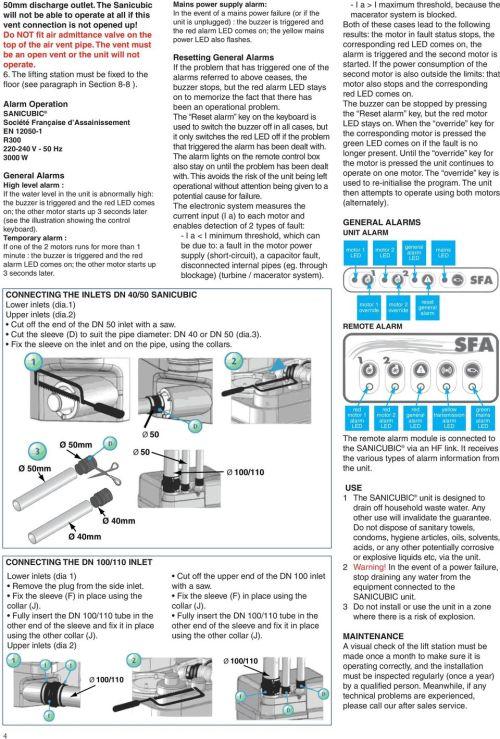 small resolution of alarm operation sanicubic soci t fran aise d assainissement en 12050 1 r300 220 240 v