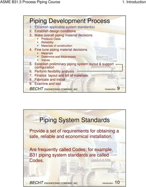 small resolution of establish preliminary piping system layout support configuration 6 perform flexibility analysis 7 finalize