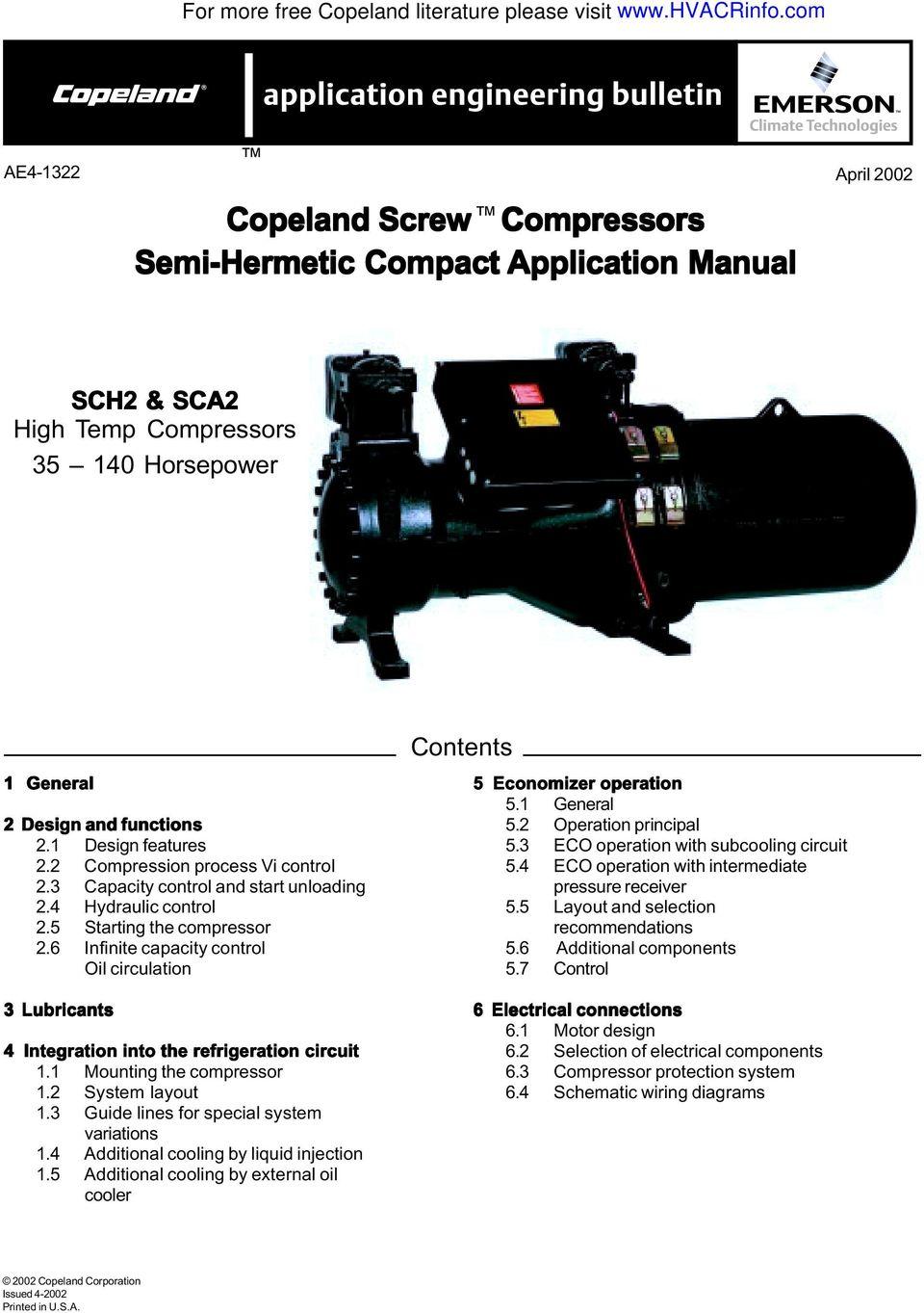 Copeland Semi Hermetic Compressor Wiring Diagram - field ... on