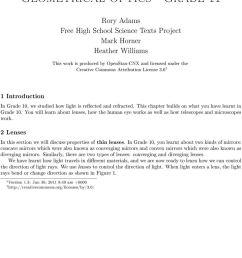 Geometrical Optics - Grade 11 - PDF Free Download [ 1375 x 960 Pixel ]