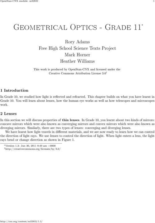 small resolution of Geometrical Optics - Grade 11 - PDF Free Download