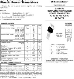 125 in pbfree packages are available 6 ampere complementary silicon power transistors 4681 volts  [ 960 x 1373 Pixel ]