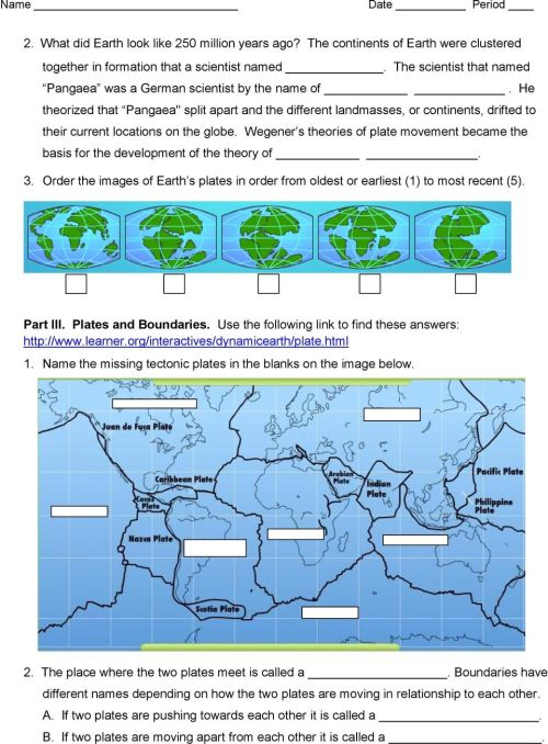small resolution of Plate Tectonics Web-Quest - PDF Free Download