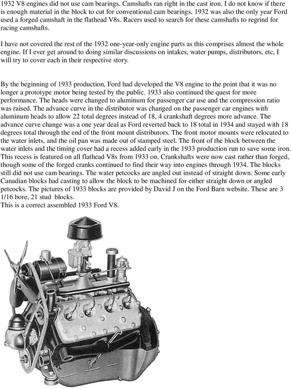 medium resolution of i have not covered the rest of the 1932 one year only engine parts