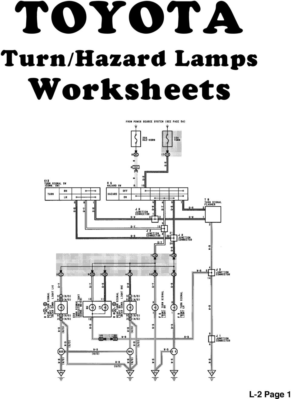 hight resolution of 16 toyota turn signal hazard lamps reference l 2 page 2