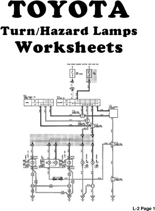 small resolution of 16 toyota turn signal hazard lamps reference l 2 page 2