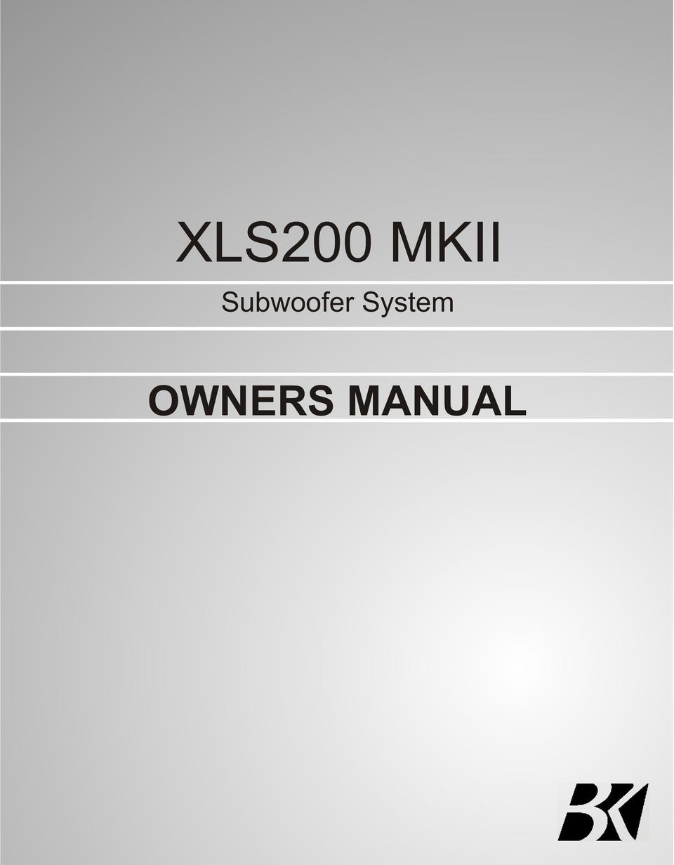 medium resolution of 2 contents page no 1 safety instructions 2 3 4 connecting up your xls200 connecting up using the high level input connecting up using the low level