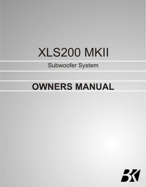 small resolution of 2 contents page no 1 safety instructions 2 3 4 connecting up your xls200 connecting up using the high level input connecting up using the low level