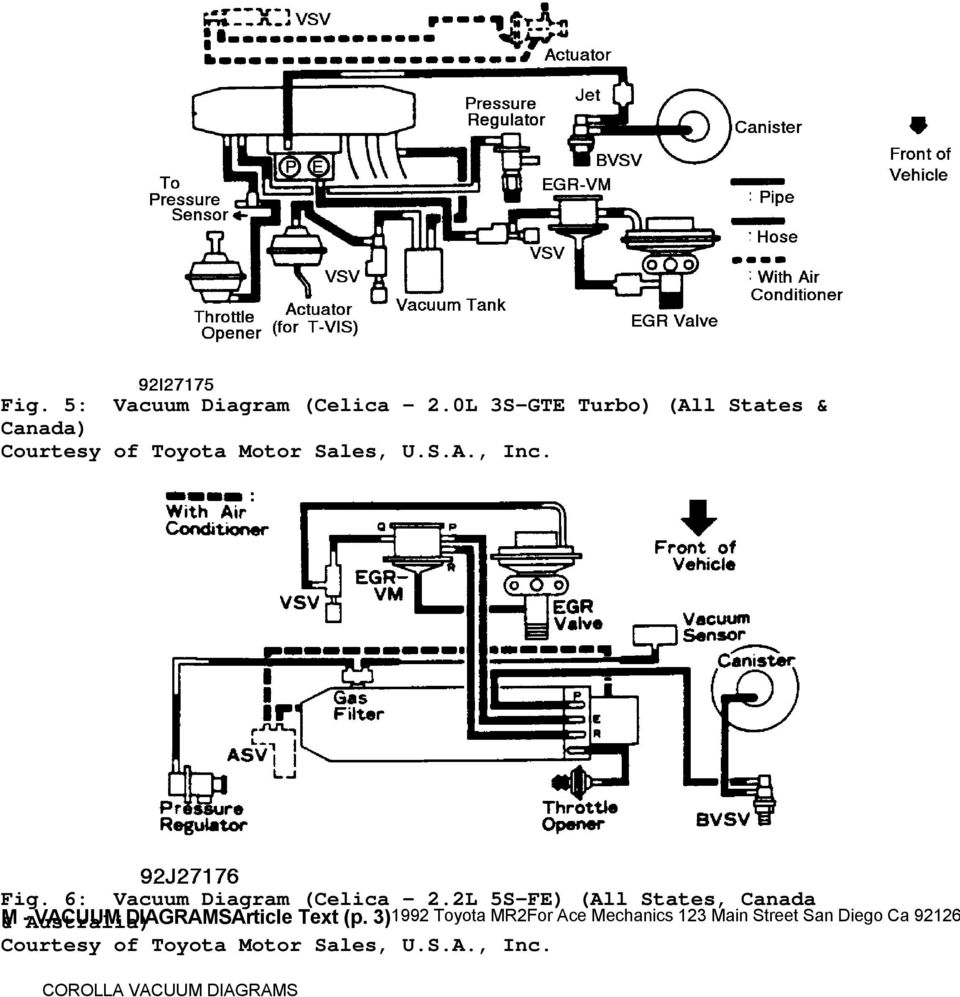 98 Toyota Avalon Vacuum Diagram • Wiring Diagram For Free