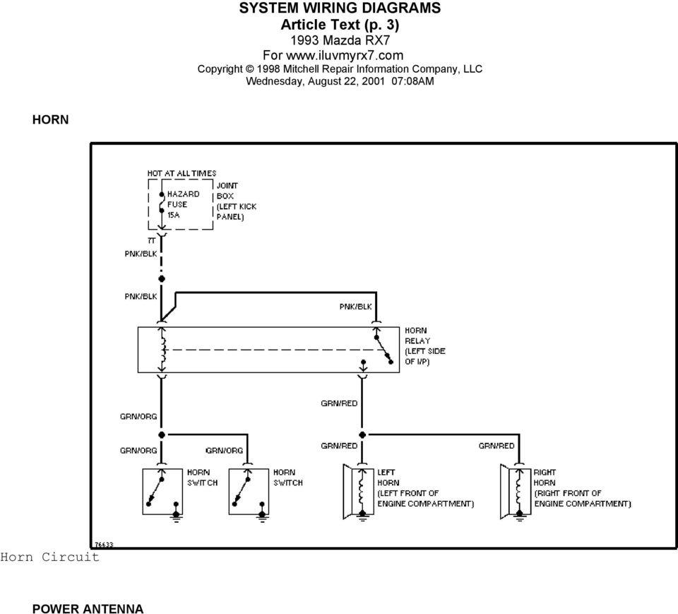 medium resolution of 5 system wiring diagrams article text p 4 power antenna circuit power door locks