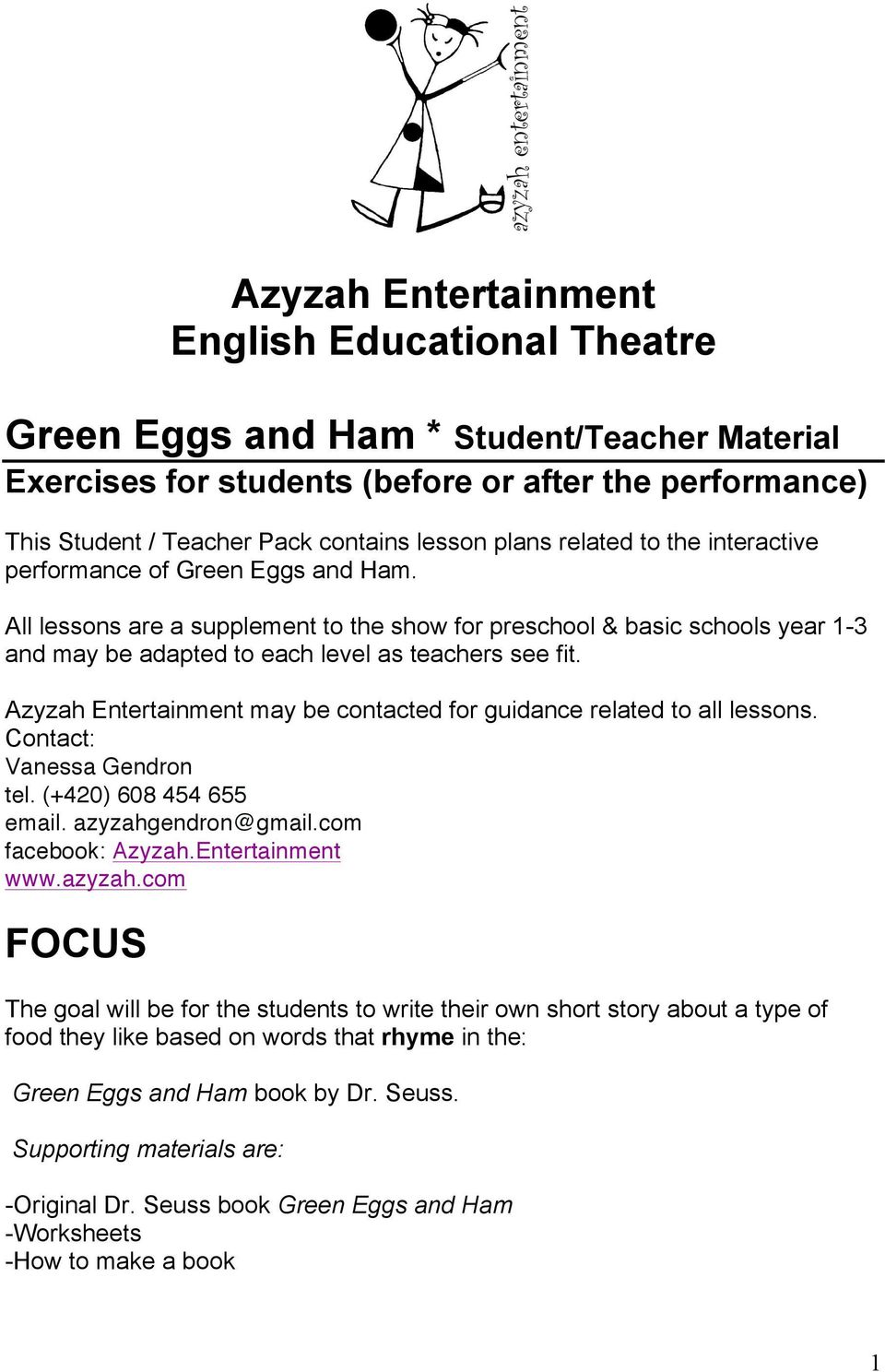 hight resolution of Azyzah Entertainment English Educational Theatre - PDF Free Download