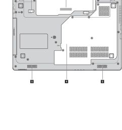 13 chapter 1 getting to know your computer a b c d e battery latch manual battery pack battery latch spring loaded hard disk drive hdd memory cpu  [ 960 x 1572 Pixel ]