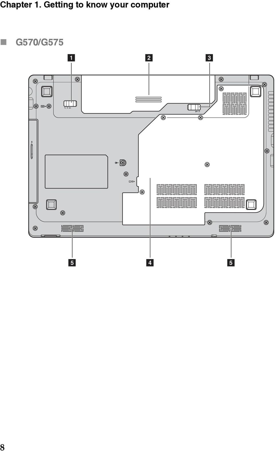 hight resolution of 13 chapter 1 getting to know your computer a b c d e battery latch manual battery pack battery latch spring loaded hard disk drive hdd memory cpu