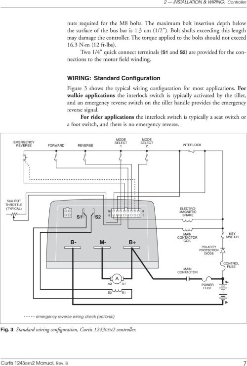 small resolution of generation 2 curtis instruments inc multimode motor controller pdfcurtis 1243gen2 manual rev b 7